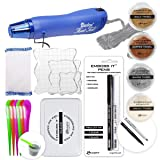 Ultimate Embossing Bundle - Multi-Purpose Heat Tool, White, Silver, Copper, Gold Embossing Powder, Emboss-it Pens and Ink Pad, Embossing Magic Pad, 3X Acrylic Stamp Blocks, Craft Scoops (Color: Silver)