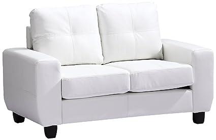 Glory Furniture G207A-L Living Room Love Seat, White