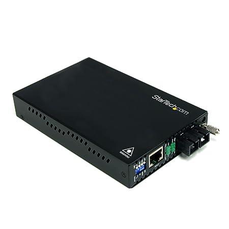 StarTech.com ET90110SC2 Convertisseur Ethernet sur Fibre Optique MultiMode 10/100Mb/s 2km 1x SC Fibre Optique Femelle 1x RJ-45 Femelle