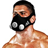 Elevation Training Mask 2.0 | Hands-Free Respiratory Muscle Trainer (RMT) | Strengthens Breathing Muscles, Increases Stamina and Endurance During Workouts | Best Hypoxic Training Fitness Mask (Color: Black & White, Tamaño: Small)