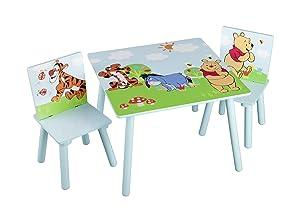 Delta TT 89314 Winnie Pooh Tisch 60 x 60 cm plus 2 Stühle, MDF    Kundenbewertung und Beschreibung