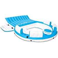 Intex Inflatable Relaxation Island 6-Person Raft with Backrests and Cooler (Blue)