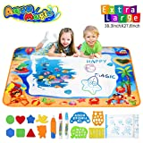 Hommate Water Doodle Mats Drawing Mat Multicolor Large Size 39.3 x 27.6 Inch Sea World Educational Learning Birthday Toys Gifts for 2 3 4 Years Old Girls Boys Tolddlers Kids (Color: Sea World 1, Tamaño: 39.3 x 27.6 Inches)