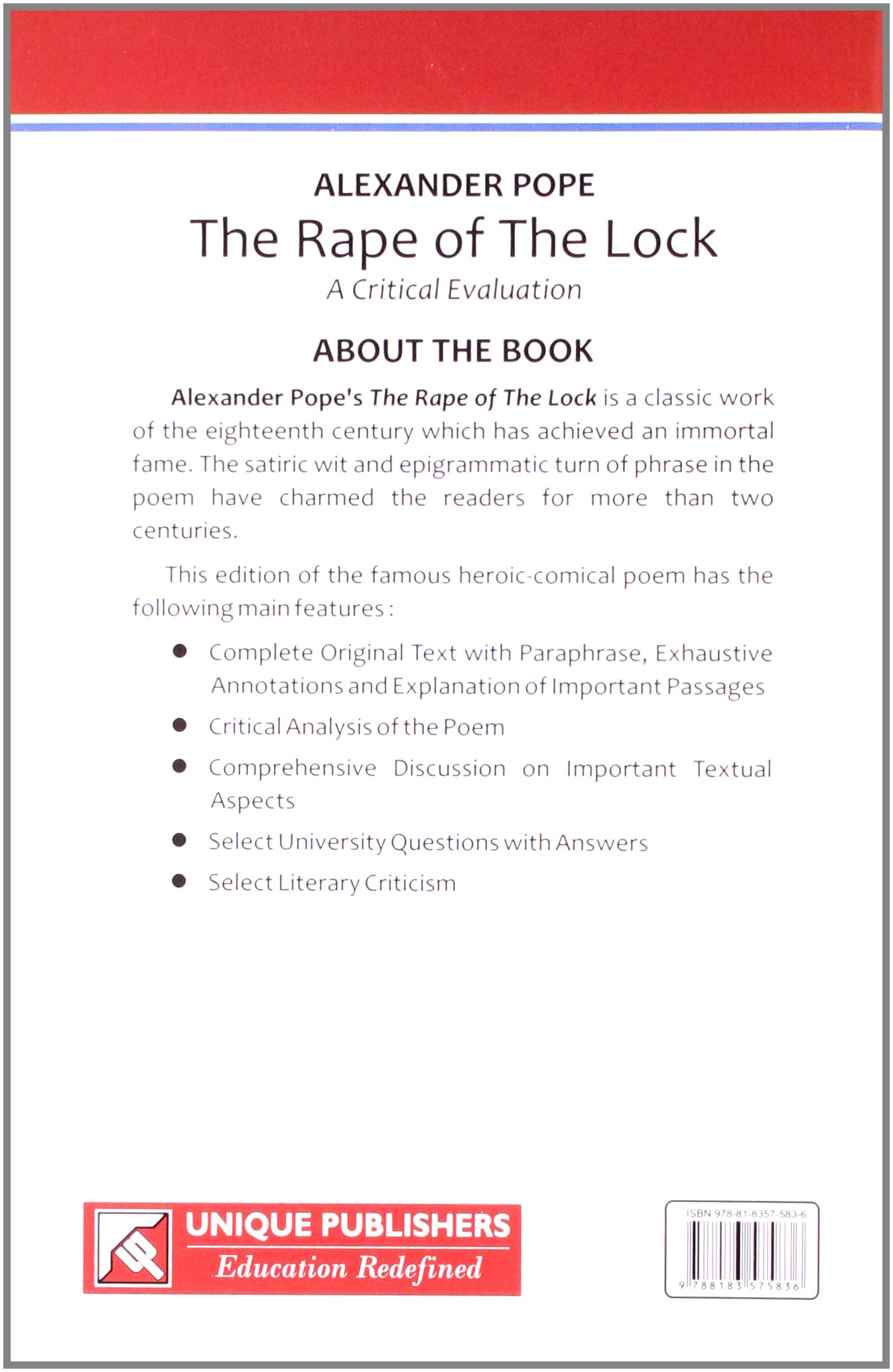 buy alexander pope the rape of the lock book online at low prices buy alexander pope the rape of the lock book online at low prices in alexander pope the rape of the lock reviews ratings in