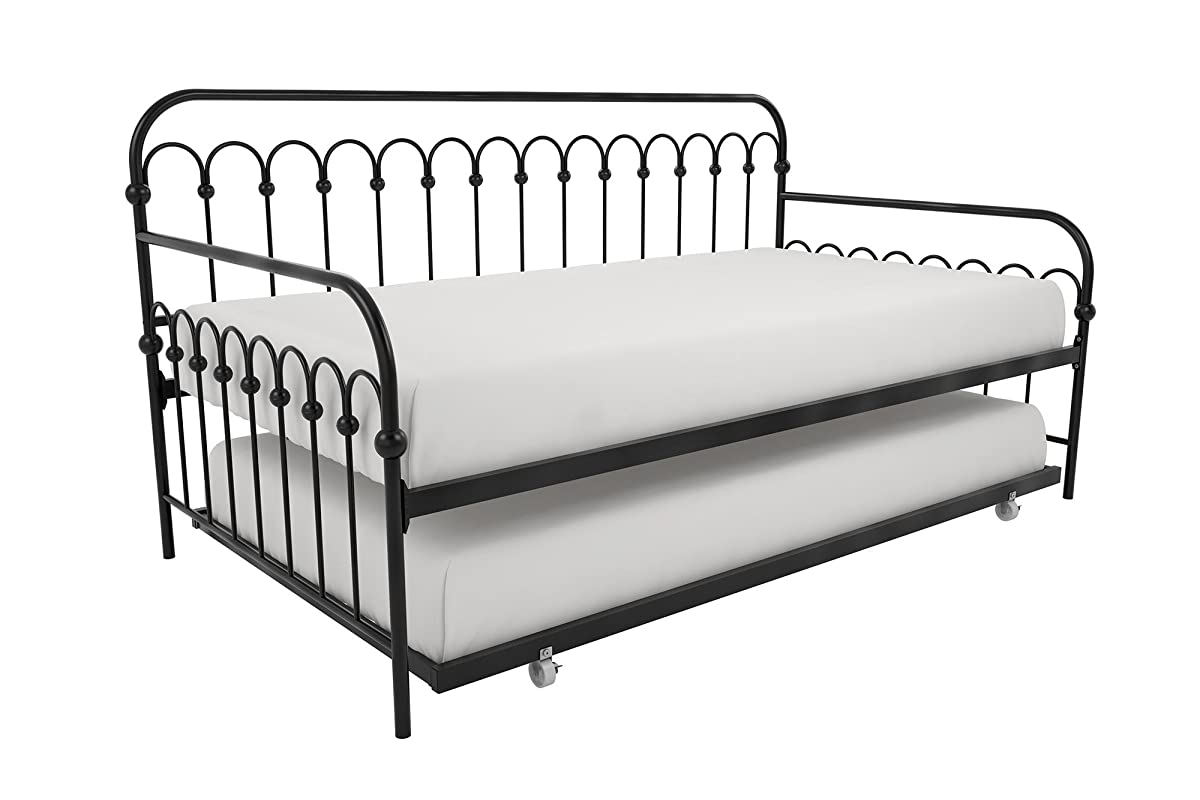 competitive price d51ee 706ae Novogratz Bright Pop Twin Metal Daybed and Trundle, Stylish ...