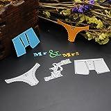 E-SCENERY Your Life Metal Cutting Dies Handmade DIY Stencils Template Embossing for Card Scrapbooking Craft (Panties) (Color: Panties)