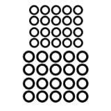 40 Pack Power Pressure Washer O-Rings for 1/4