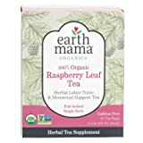 Earth Mama Organic Raspberry Leaf Tea Bags for Labor Tonic and Menstrual Support, 16-Count (Tamaño: 16-Count)