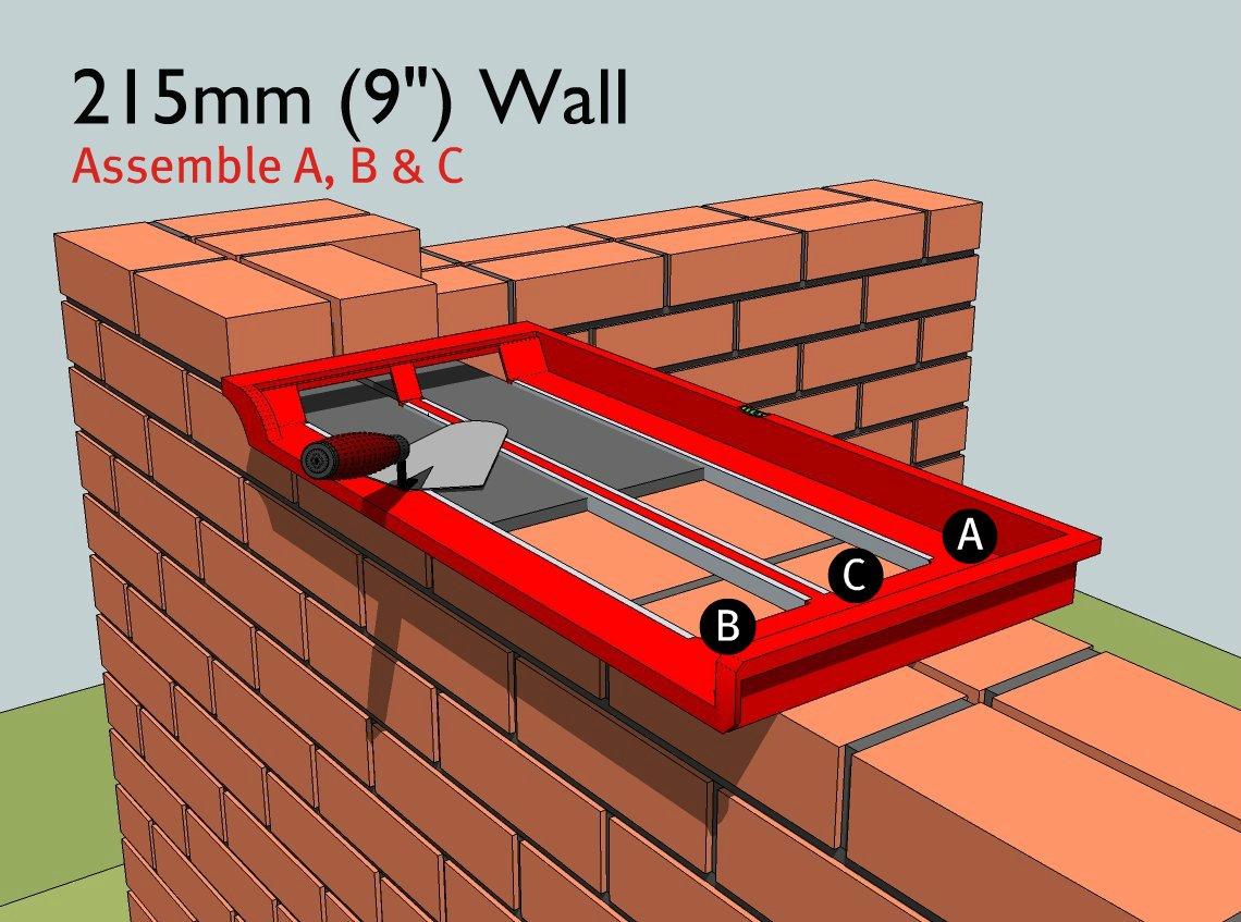 bricky pro new adjustable wall building tool kit for all builders ebay. Black Bedroom Furniture Sets. Home Design Ideas