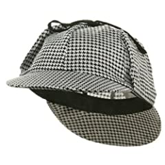 Sherlock Holmes Hat(color black/white)