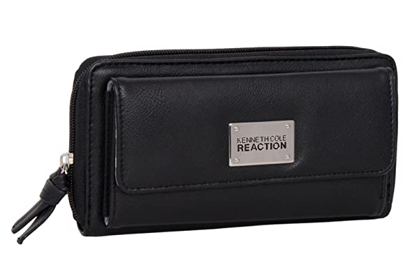 3. Kenneth Cole Reaction Womens Napa Zip-Around Urban Organizer Wallet