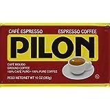 Pilon Espresso 100 % Arabica Coffee, 10-Ounce Bricks (Pack of 4) (Color: Original Version, Tamaño: 10  Ounces)