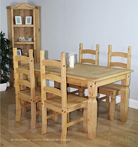 Corona Essgruppe, 5-teilig, 1 Esstisch mit 4 Stuhlen