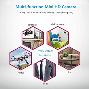 Nanny Cam, Eesteros 1080P HD Mini Camera Hidden Spy Camera Motion Detection Video Recorder Support up to 32G Micro SD Cardï¼?Not Includeï¼?