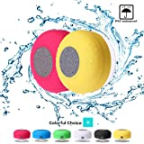 Mini Shower Speaker-Wireless, Waterproof Bluetooth Speaker, Hands-Free Portable Speakerphone with Built-in Mic, Micro USB Outdoor, Sports, Pool, Beach