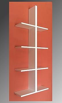 regal h ngeregal wei gew rzregal wandregal 4 f cher dc750. Black Bedroom Furniture Sets. Home Design Ideas