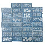 Coscelia Wholesale 30Pc Acrylic Mold For 3D Nails Art Decoration DIY Set