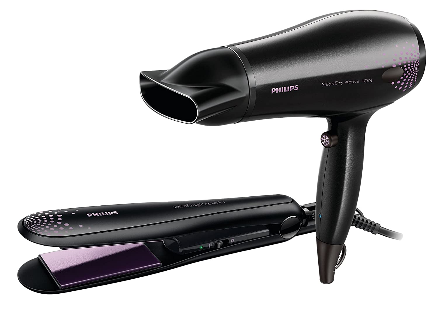 Philips HP8299 Hair Straightener And Hair Dryer Combo Pack
