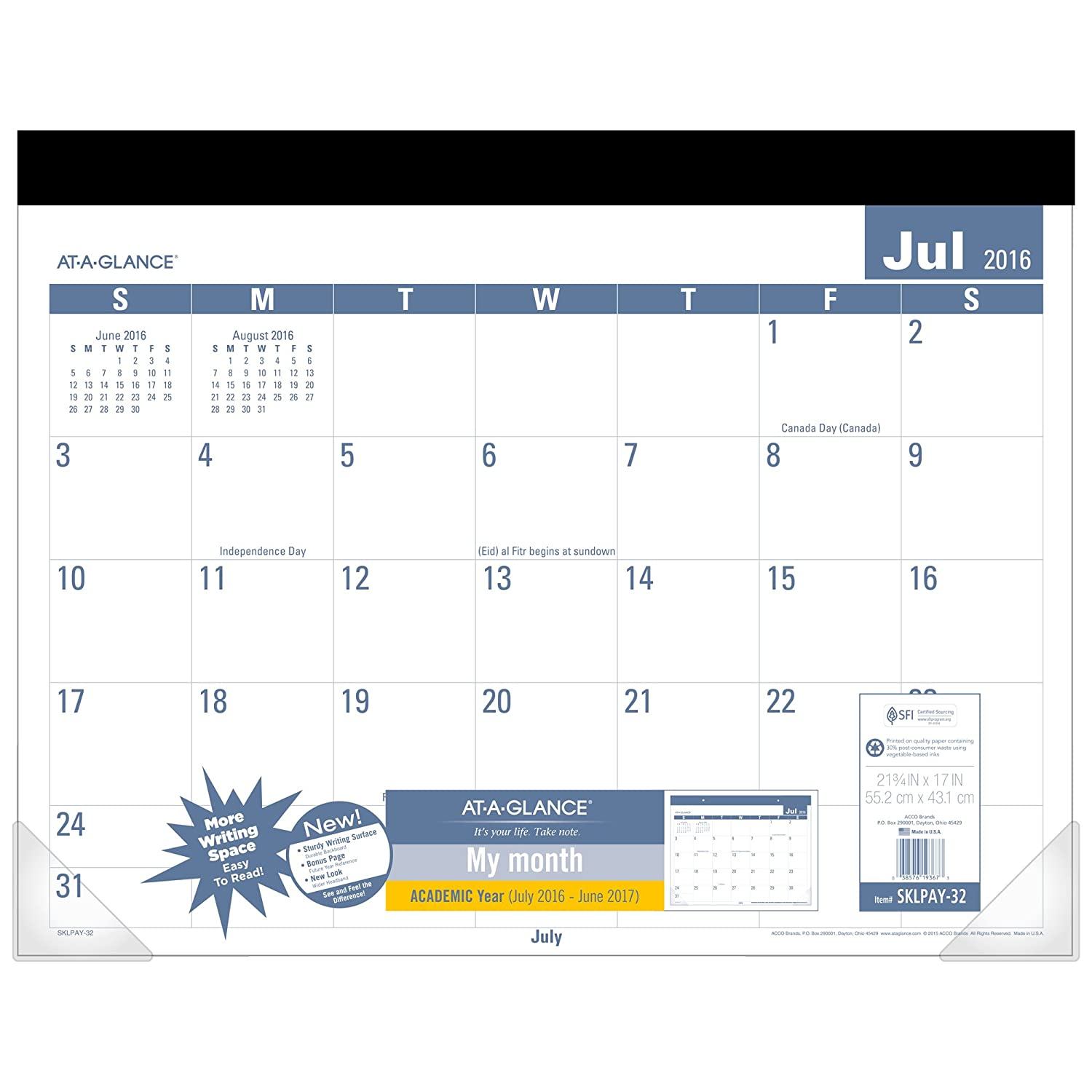 Glance Academic Year Calendar Monthly