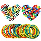 ITATOO® Colorful Tattoo Grommets Nipples O Ring and Rubber Bands 300 Pcs