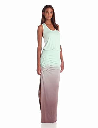Young Fabulous & Broke Women's Mel Tank Ombre Maxi Dress, Crystal, X-Small