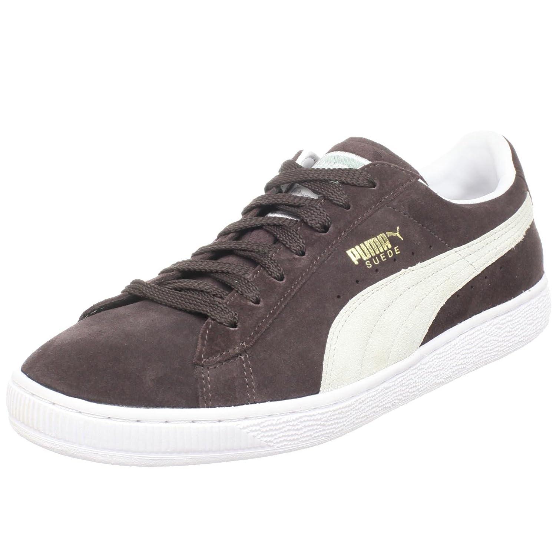 Puma Suede Black Coffee Vapor Grey White