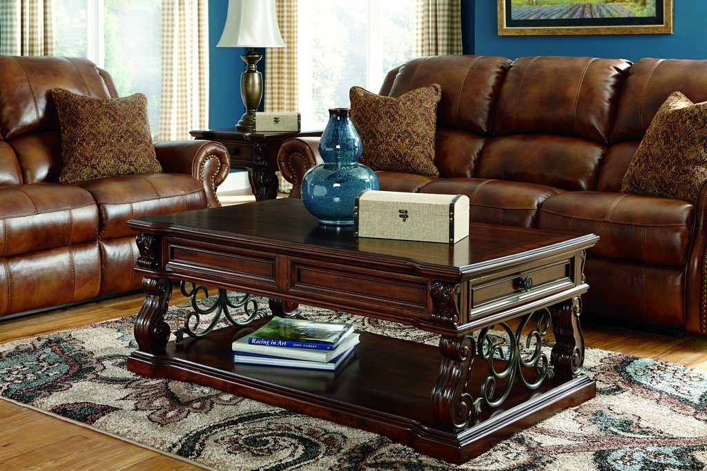 Signature Design by Ashley T869-9 Alymere Collection Coffee Table, Rustic Brown 1
