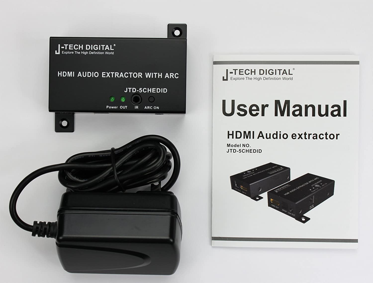 J Tech Digital Hdmi Audio Extractor Spdif 1080p Jtd 5chedid Arc Wiring Diagram Whats Included