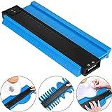 10 inch Contour Gauge Plastic Profile Gauge Multifunctional Shape Duplicator Edge Shaping Measure Ruler for Professional Precise Measurement (Blue) (Color: Blue, Tamaño: 25 cm)