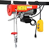 BEAMNOVA 1500lb Electric Hoist Lift Overhead Winch with Remote Control Single/Double Slings (Color: 1500LB)