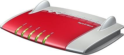 AVM FRITZ!Box 3390 - Router (10, 100, 1000 Mbit/s, 10/100/1000Base-T(X), 802.11a, 802.11b, 802.11g, 802.11n, 450 Mbit/s, 2.4 GHz, Ethernet (RJ-45)) Gris, Rojo