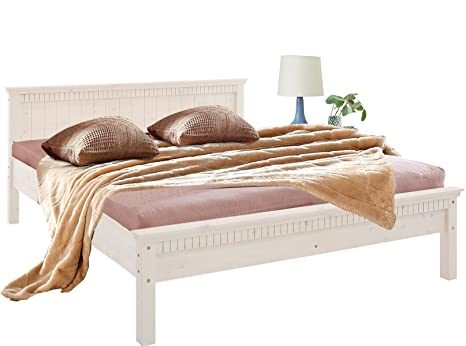 Einzelbett, Doppelbett, Bett VENEDIG aus Kiefer massiv (26, 16)