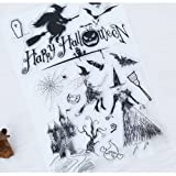 Scrapbook Ink Rubber Clear Stamp Set For DIY Card Making (halloween witch) (Color: halloween witch)