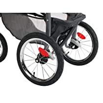 Rear Wheel and Breaks of Graco FastAction Fold Jogger