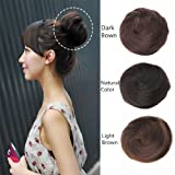 HAIQUAN 8A Human Hair Bun Extension Donut Chignon Hairpiece Wig UP DO Ballerina Knoten Topknot Scrunchie Hairpiece Dark Brown
