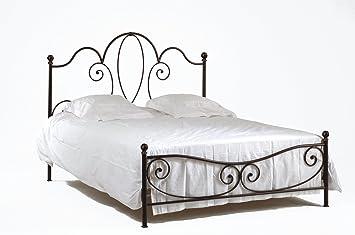 matelpro lit fer forg gena noir gena noir or 90 x 190 cm cuisine maison m55. Black Bedroom Furniture Sets. Home Design Ideas