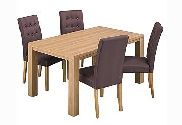 LPD courbe Table de salle à manger en chêne
