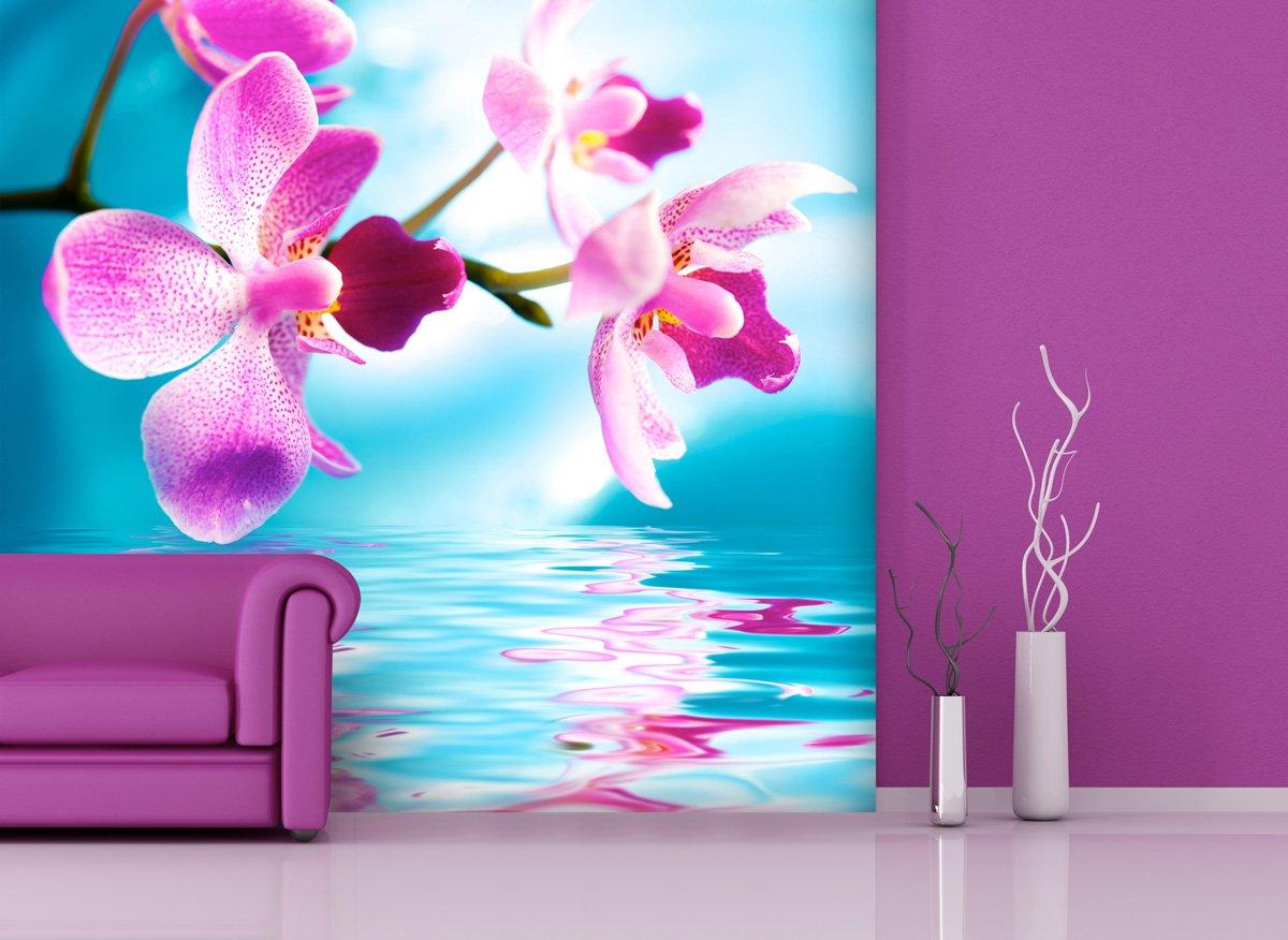 Fototapete Pink Orchid in verschiedenen Größen  als Papiertapete oder Vliestapete wählbar  PVC frei, geruchloser, umweltfreundlicher Latexdruck ohne Lösemittel  Motivtapete Postertapete Bildtapete Wall Mural von Trendwände  BaumarktKritiken und weitere Informationen