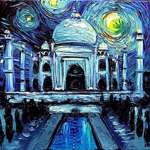 taj-mahal-art-fine-art-print-starry-night-india-van-gogh-never-saw-the-taj-mahal-art-by-aja-8x8-10x1