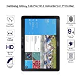 Samsung Galaxy NOTE/Tab Pro 12.2 Screen Protector - MOTONG Tempered Glass Screen Protection For Galaxy Tab Pro 12.2, 9 H Hardness, 0.3mm Thickness,Made From Real Glass