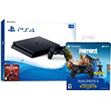 Playstation 4 Fortnite Starter Bundle: Playstation Exclusive Royale Bomber Outfit, 500 V-Bucks, Playstation 4 Slim 1 TB Console with Extra DUALSHOCK 4 Wireless Controller - Black
