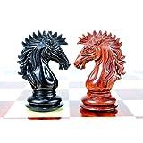 House of Chess - Ebony / Bud Rose wood Encore Staunton Wooden Chess Set Pieces 4.5