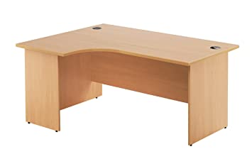 Office Hippo PANEL Left Corner Desk, 180 cm - Beech