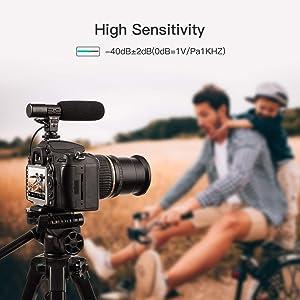 SmilePowo Camera Microphone Mic-01 3.5mm Digital Video Recording Microphone for D-SLR Camera Stereo Shotgun Recording Microphone for Digital SLR Camera,Nikon/Canon Camera/DV Camcorder