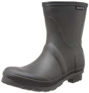 Kamik Women's Jenny Low Rain Boot,Black,11 M US
