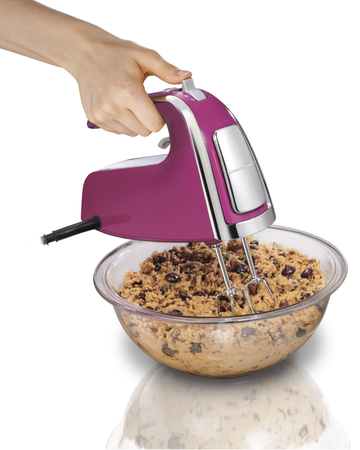 Electric Hand Mixers Kitchen ~ Hamilton beach speed hand mixers with snap on cases ebay