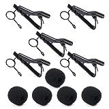 Microphone Tie Clip, PEMOTech 5 Pack 5/16
