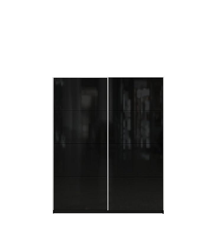 Furniturefactor Lucia Porta scorrevole per guardaroba, colore: nero lucido