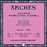 Arches Watercolor Paper Block, Hot Press, 7.9
