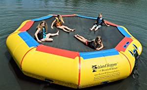 Island Hopper 17' Bounce N Splash Padded Water Bouncer